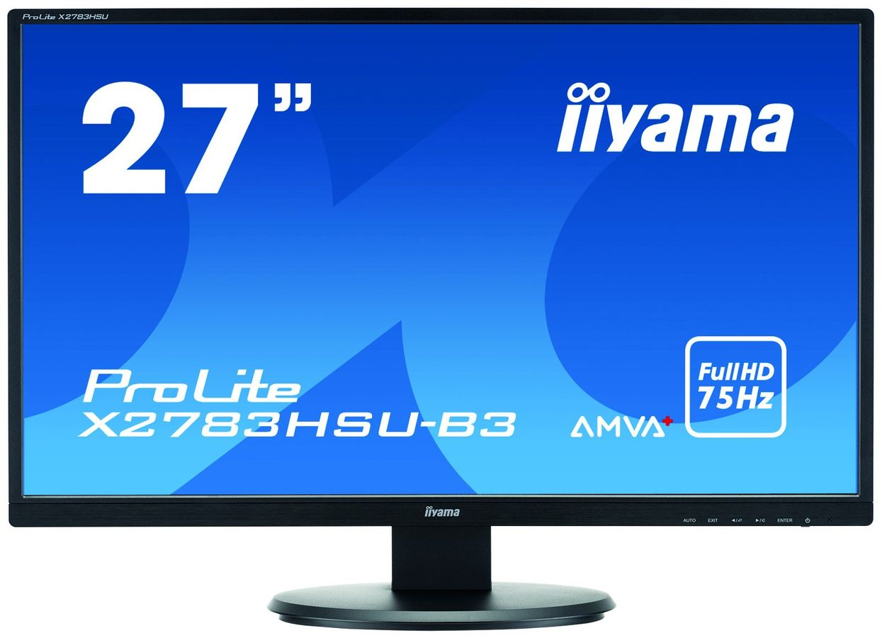 "iiyama ProLite X2783HSU-B3 computer monitor 68,6 cm (27"") Full HD LED Flat Mat Zwart"