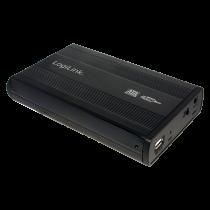 "3.5"" LogiLink Enclosure USB2.0 / SATA / Zwart"
