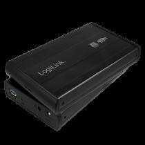 "3.5"" LogiLink Enclosure USB3.0 / SATA / Zwart"