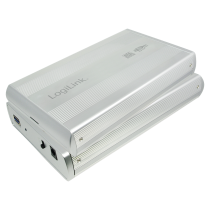 "3.5"" LogiLink Enclosure USB3.0 / SATA / zilver"