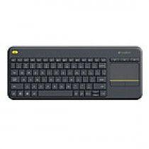 Logitech K400 Plus RF Draadloos QWERTY Nederlands Zwart toetsenbord