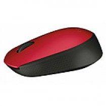 Logitech M171 RF Draadloos Optisch 1000DPI Ambidextrous Zwart, Rood muis