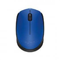 Logitech M171 RF draadloos + USB Optisch 1000DPI Ambidextrous Zwart, Blauw muis